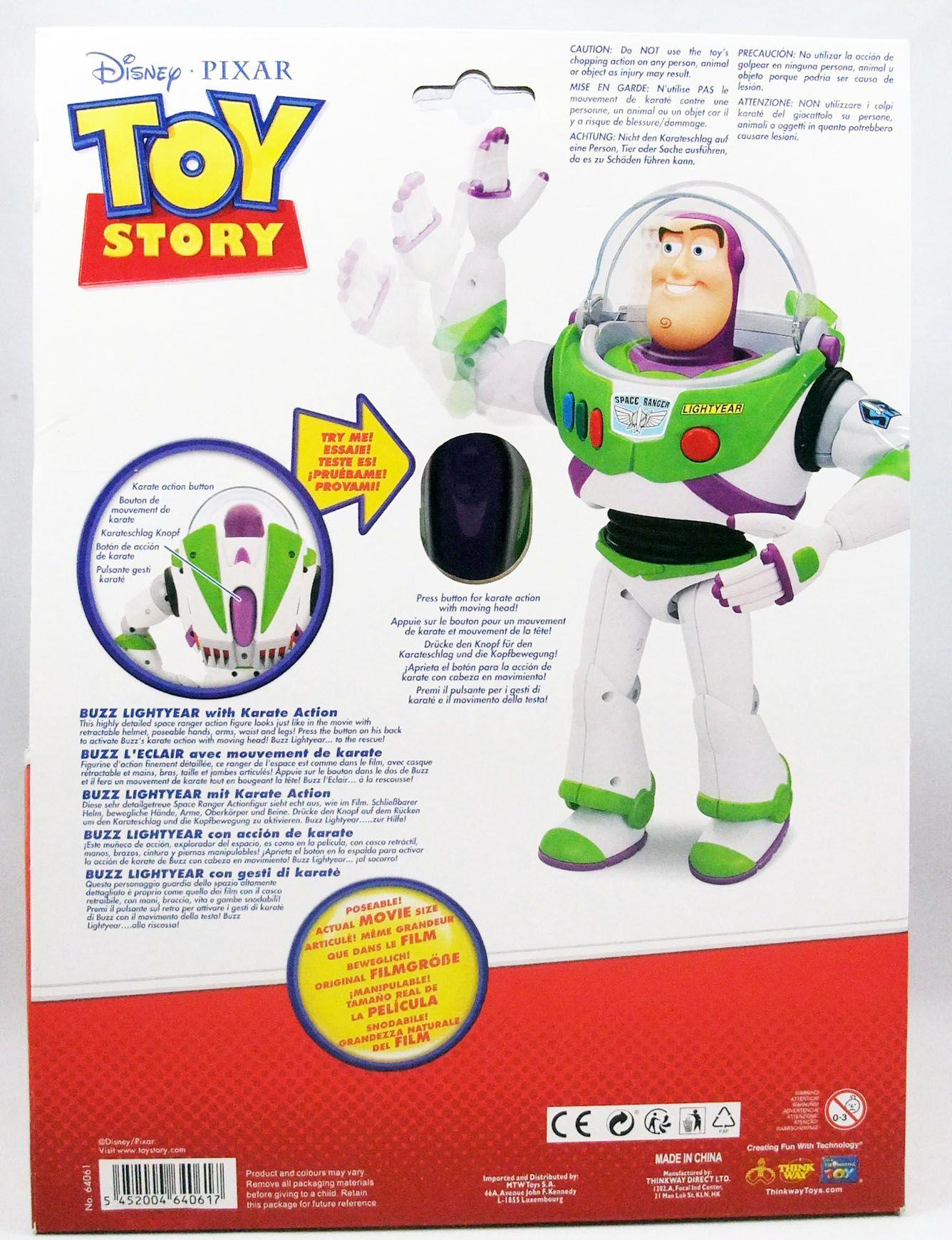 "Toy Story - Think Way - Buzz Lightyear 12"" action figure"