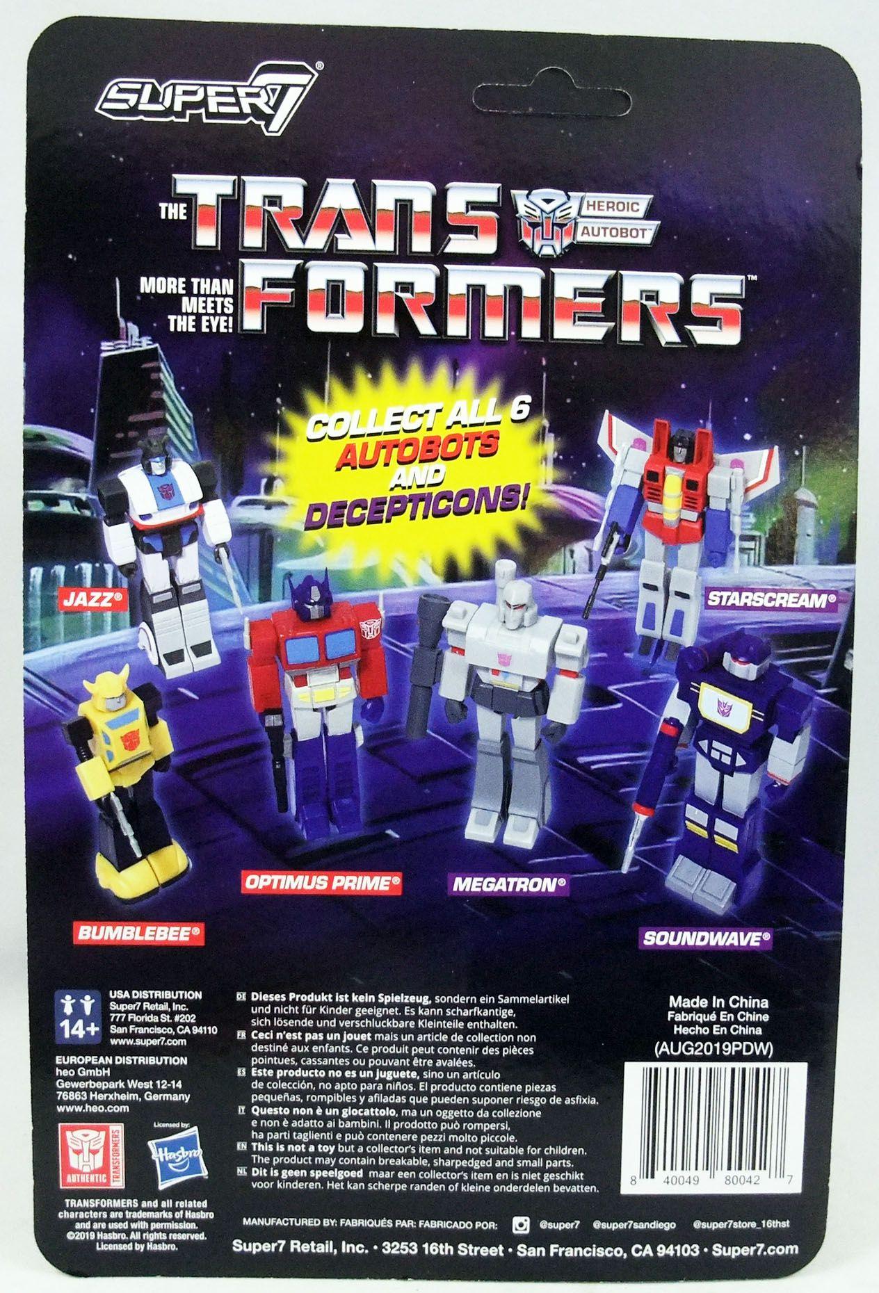 Transformers - Super7 ReAction Figure - Optimus Prime