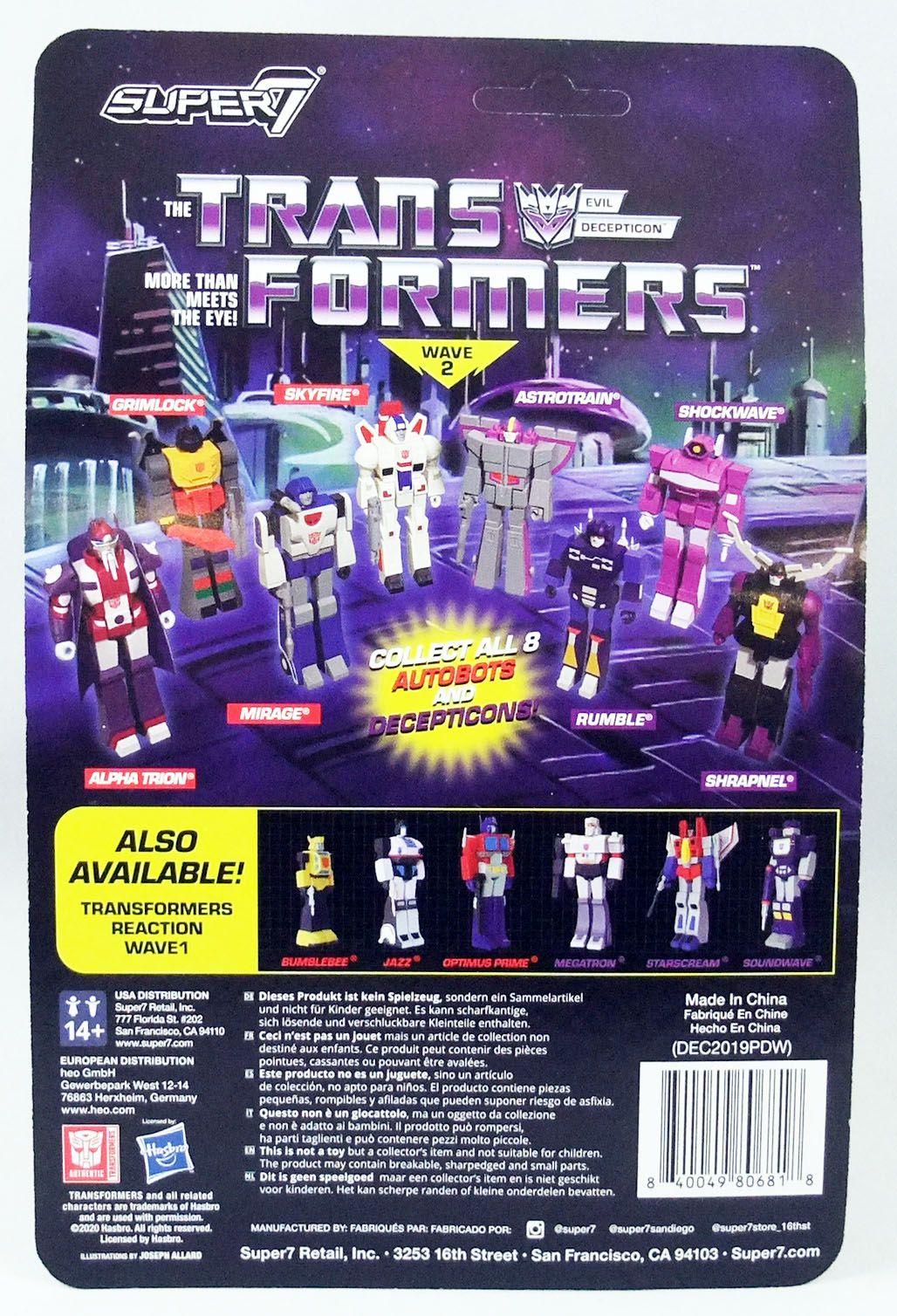 Transformers - Super7 ReAction Figure - Shockwave