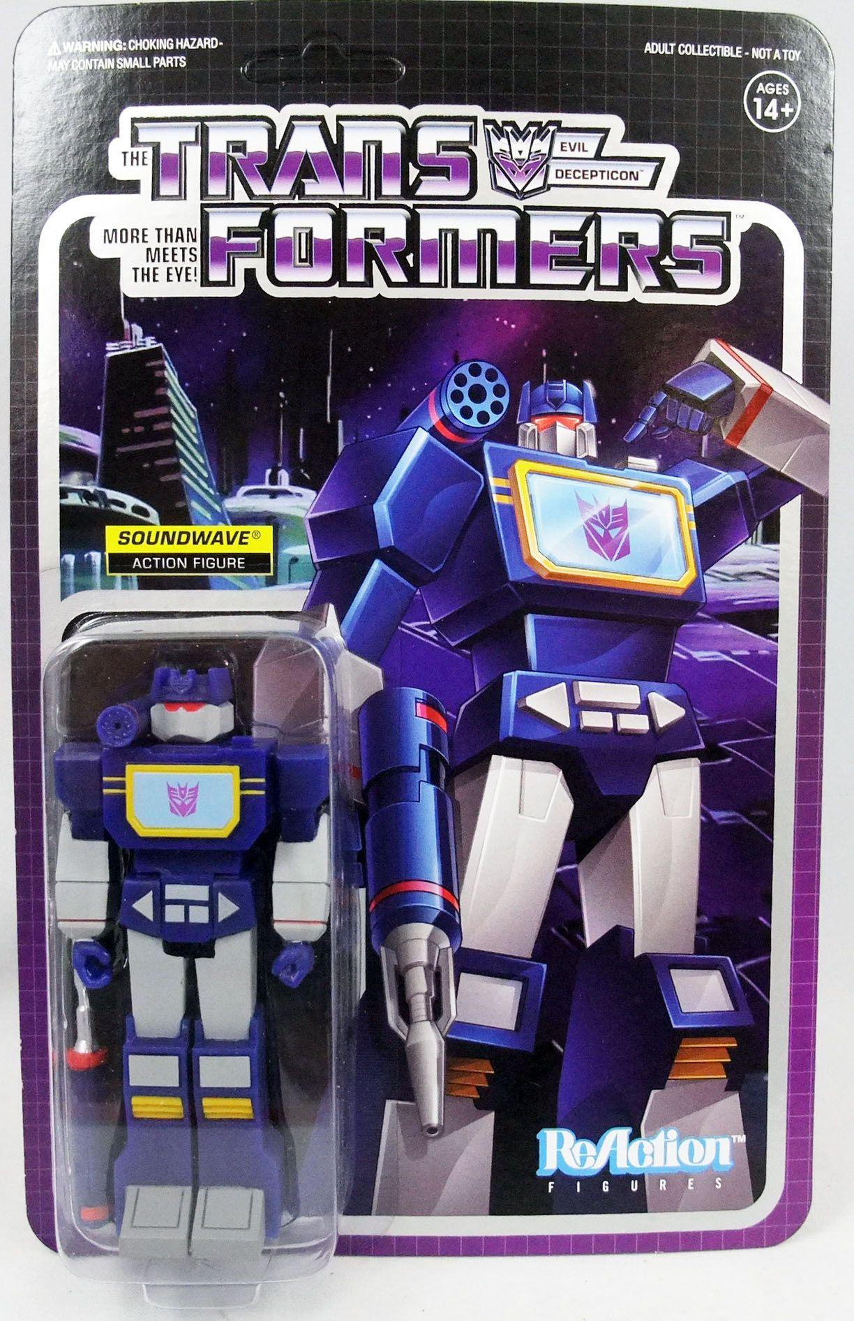 Transformers - Super7 ReAction Figure - Soundwave