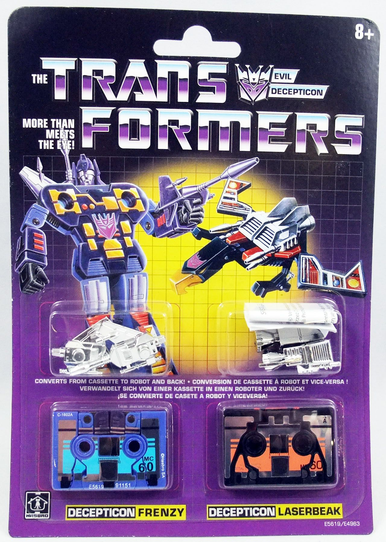 Transformers G1 Walmart Exclusive - Decepticon Frenzy & Laserbeak