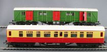 Tri-ang RS.61 Ho Br Coffret Old Smoky Loco Vapeur 030 43775 Voituer Fourgon Rails