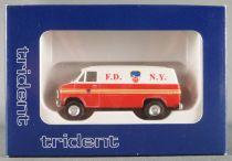 Trident 90197 Ho 1:87 Chevrolet Van F.D. N.Y. Mint in Box