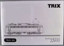 Trix 22031 Ho Manuel Utilisation Notice Locomotive BB Br E10 1266 de la Db