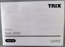 Trix 22092 Ho Manuel Utilisation Notice Locomotive BB Hercules Classe 2016 Stlb