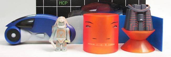Tron - Medicom Kubrick - Set D Sark w/ MCP & Light cycle