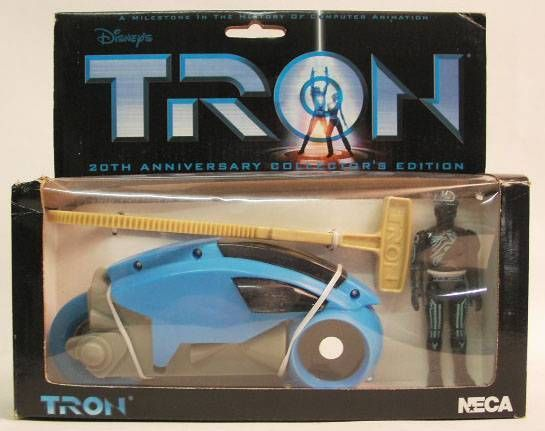 Tron - NECA - 20th anniversary Flynn & blue light cycle