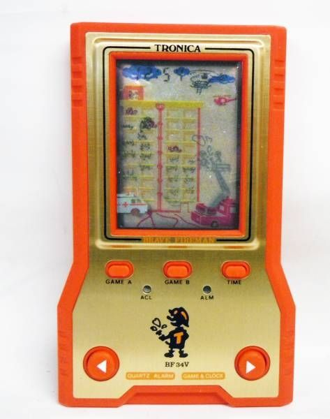 "Tronica (Game-Clock) - Handheld Game (Vertical Screen) - Brave Firemen \""Le Pompier Courageux\"" BF-34V (neuf en boite)"