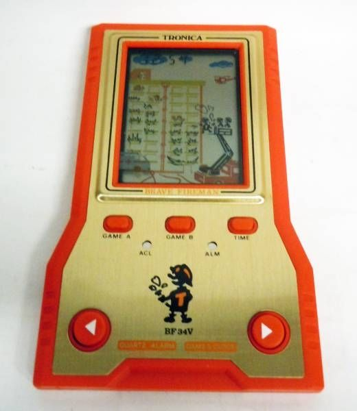 Tronica (Game-Clock) - Handheld Game (Vertical Screen) - Brave Firemen BF-34V (mint in box)