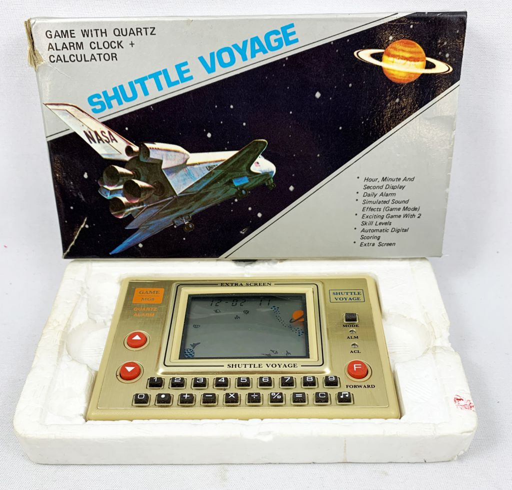 Tronica (Game-Clock & Calculator) - Handheld Game - Shuttle Voyage (MG-8)