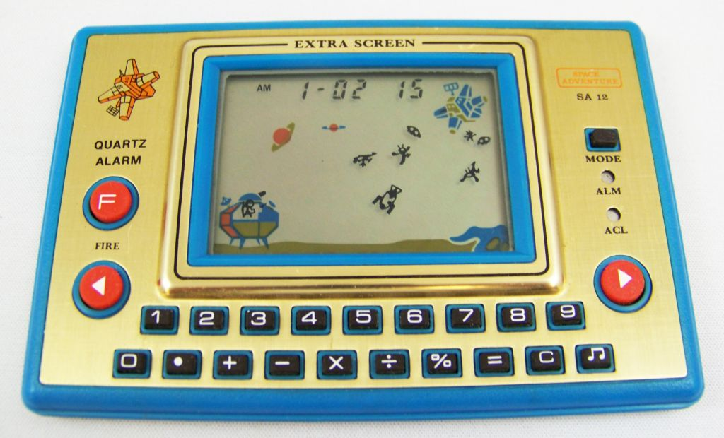 Tronica (Game-Clock & Calculator) - Handheld Game - Space Adventure (SA-12)  06