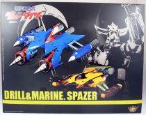 UFO Robo Grendizer - King Arts KSS016 - Marine Spazer & Drill Spazer set with light up features