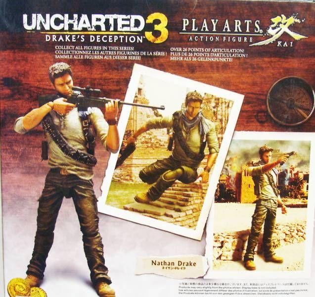 Uncharted 3 Nathan Drake Play Arts Kai Action Figure Square Enix