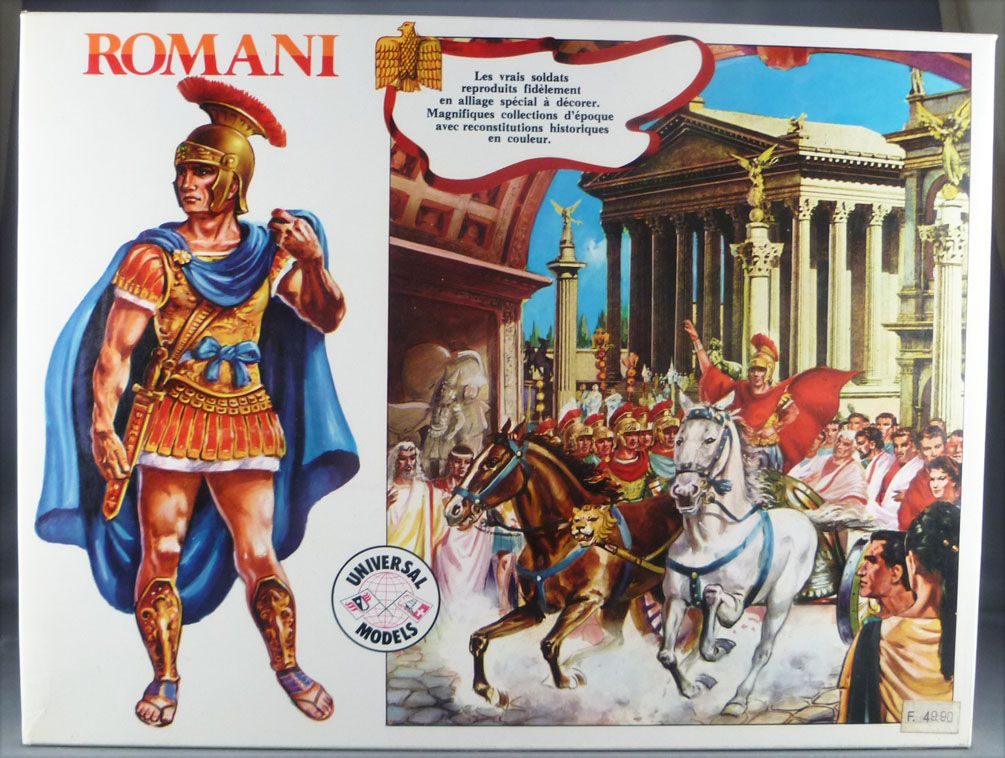 Universal Models 1007 - 35mm - Romains - Boite 10 Figurines avec décor