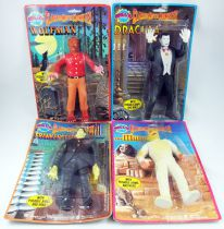 Universal Studios Movie Monsters - Imperial Toy Corp. - Set de 4 Action Figures : Dracula, Frankenstein, Wolfman, The Mummy