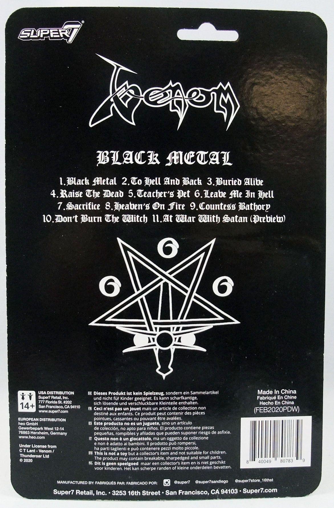 Venom - Figurine ReAction Super7 - Black Metal