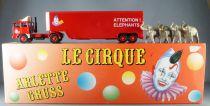 Verem Réf 820 Cirque Arlette Gruss Camion Renault & Remorque Transport Éléphants Neuf Boite 1/43