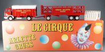 Verem Réf 823 Cirque Arlette Gruss Camion Mercedes & Remorque Transport Chapiteau Neuf Boite 1/43