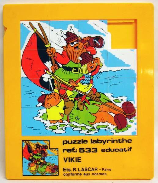 Vic le Viking- Taquin (Pouce-pousse) plastique