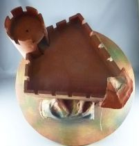 Vintages Medieval Castle\' in wood & cardboard for Starlux Timpo figures
