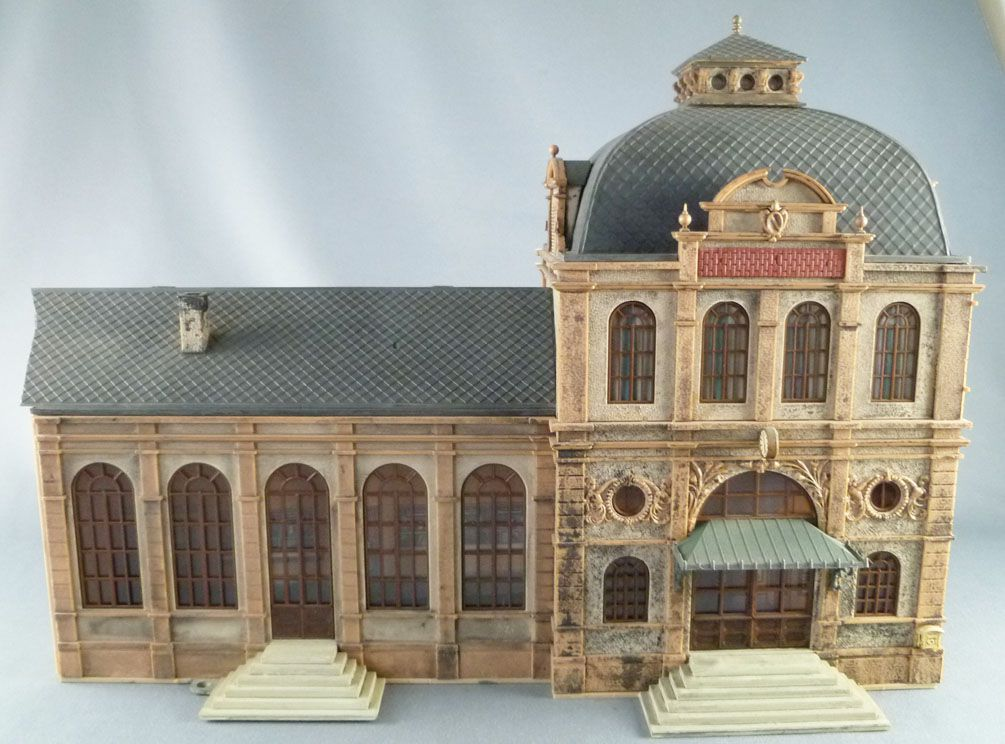 Vollmer Ho Sncf Large Station Industrial Building Built Painted 685 x 125 x 210 mm