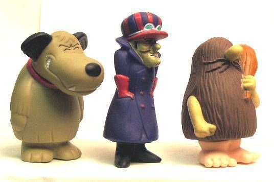 Wacky Races - Dick Dastardly + Muttley + Rock Vinyl