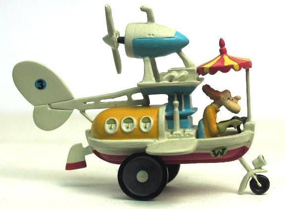 Wacky Races - Mini Cold Cast - Set of 11 Vehicles + Muttley