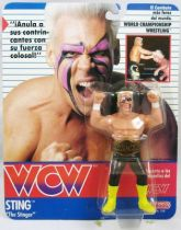 WCW Galoob - Sting The Stinger yellow boots (carte Espagne)