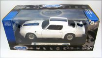 Welly Collection 1972 Pontiac Firebird Trans Am 1/18ème (Diecast Metal)