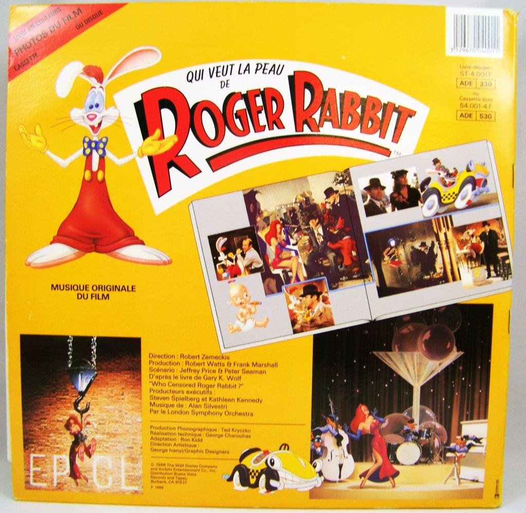 Qui veut la peau de Roger Rabbit - Livre-Disque 33t - Buena Vista Records1988 03