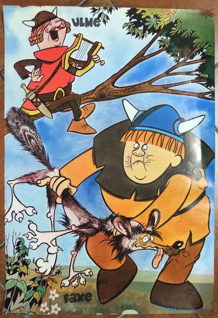 Wickie the Viking - Poster n°8 Ulme & Faxe - Comer Lisboa 1976