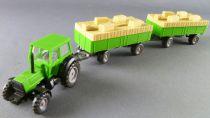 Wiking Ho 1/87 Tracteur Agricole Deutz Fahr DX 4 70 & 2 Remorques Fourrage