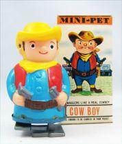 Wind-Up - Mini-Pet Tomy - Cow Boy (neuf en boite)
