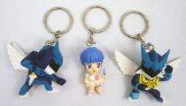 Wingman - Banpresto - Set de 3 figurines porte clé Wingman & Elise