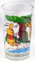Winnie the Pooh - Amora mustard glass - Winnie, Piglet, Tiger by the pond