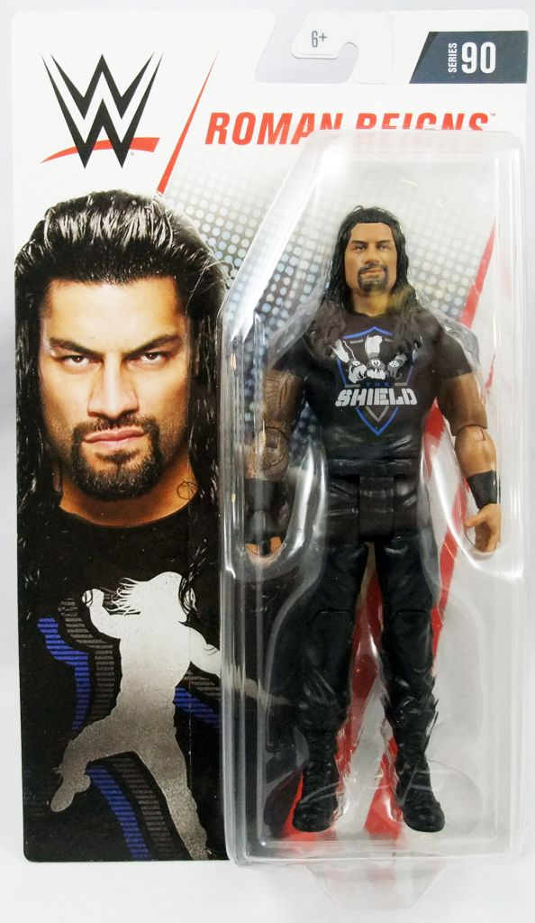 "WWE Mattel - Roman Reigns ""Shield Shirt\"" (2018 Basic Superstar Series 90)"