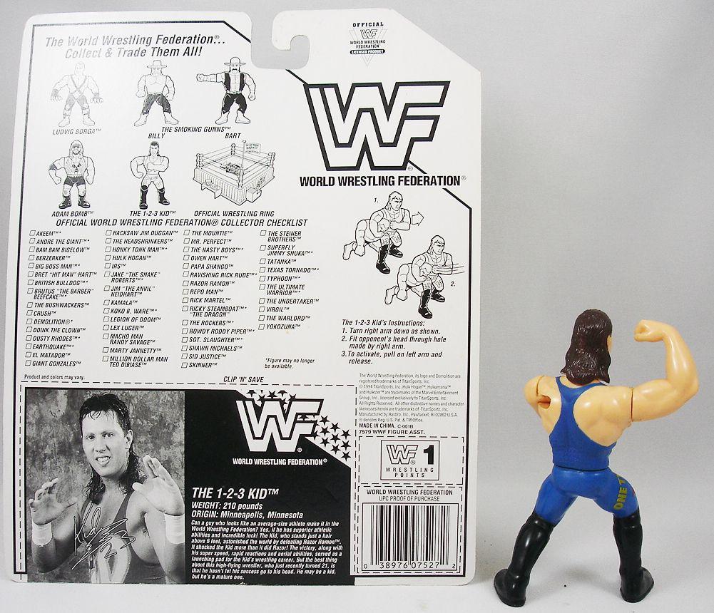WWF Hasbro - 1-2-3 Kid (loose with USA cardback)