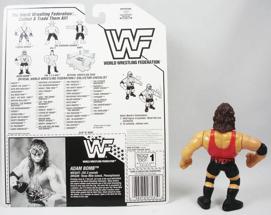 WWF Hasbro - Adam Bomb (loose avec carte USA)