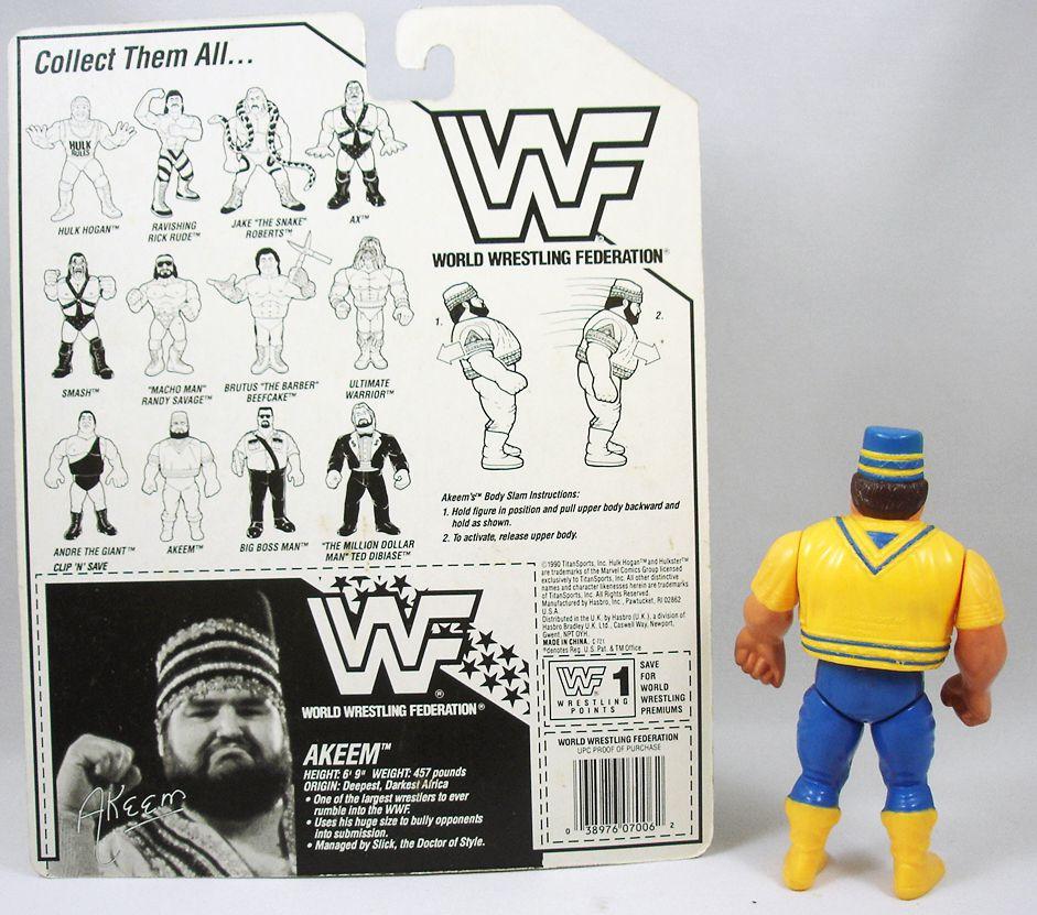 WWF Hasbro - Akeem (loose with USA cardback)