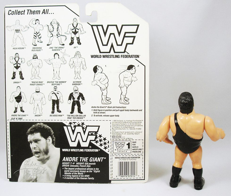 WWF Hasbro - Andre The Giant (loose with USA cardback)