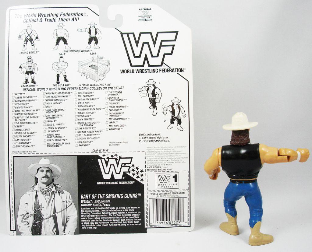 WWF Hasbro - Bart Gunn of the Smoking Gunns(loose avec carte USA)