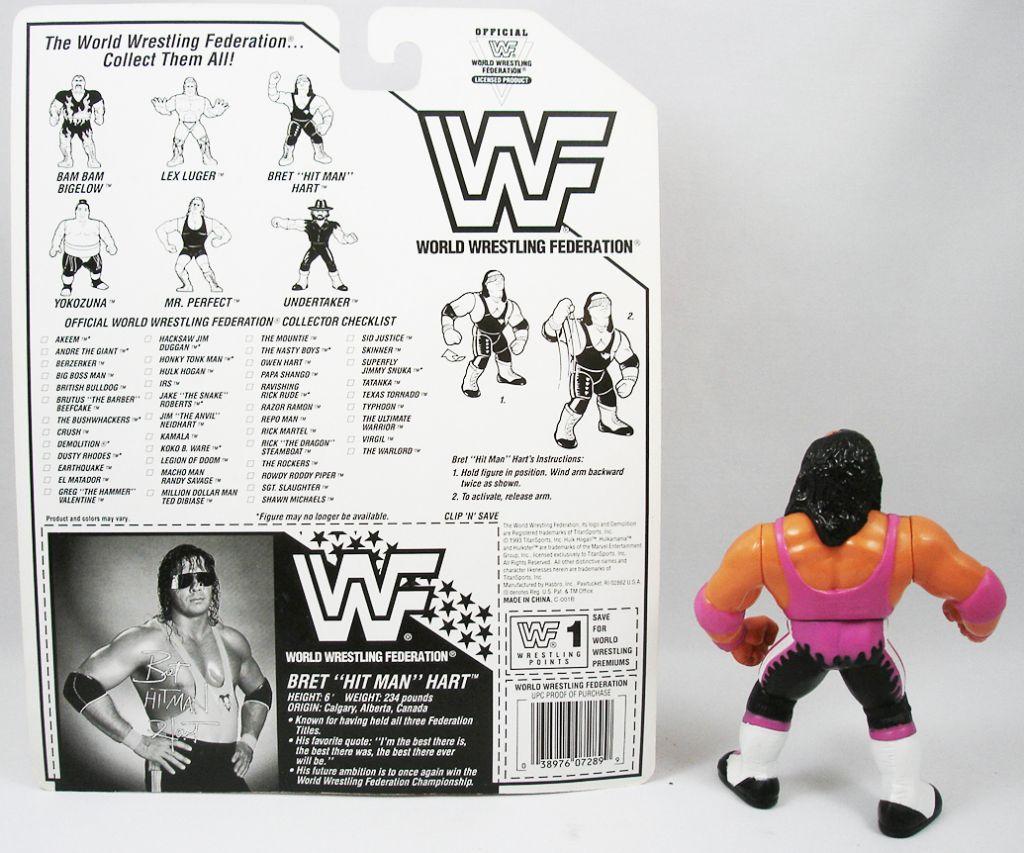 WWF Hasbro - Bret Hitman Hart v.2 (loose avec carte USA)