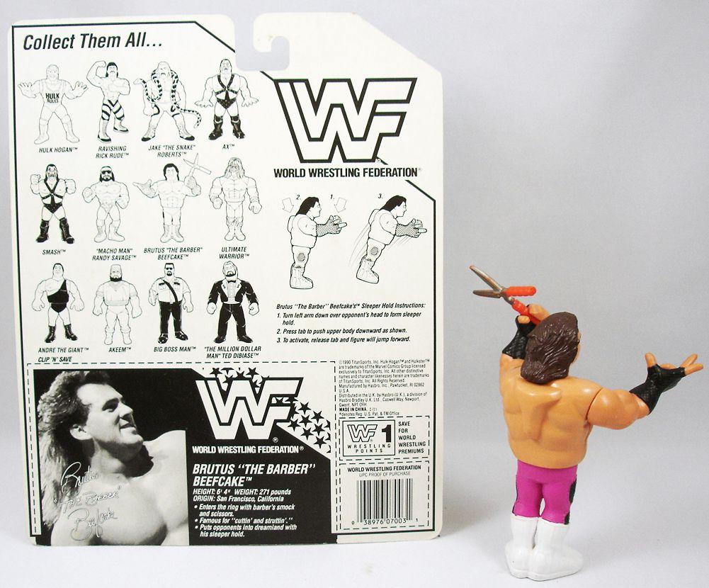 WWF Hasbro - Brutus The Barber Beefcake v.1 (loose with USA cardback)