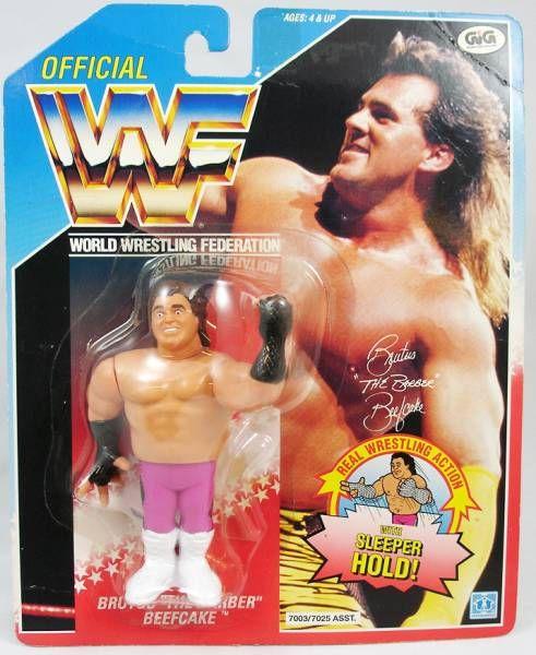 WWF Brutus the Barber Beefcake Hasbro Action Figure Series 1 1990