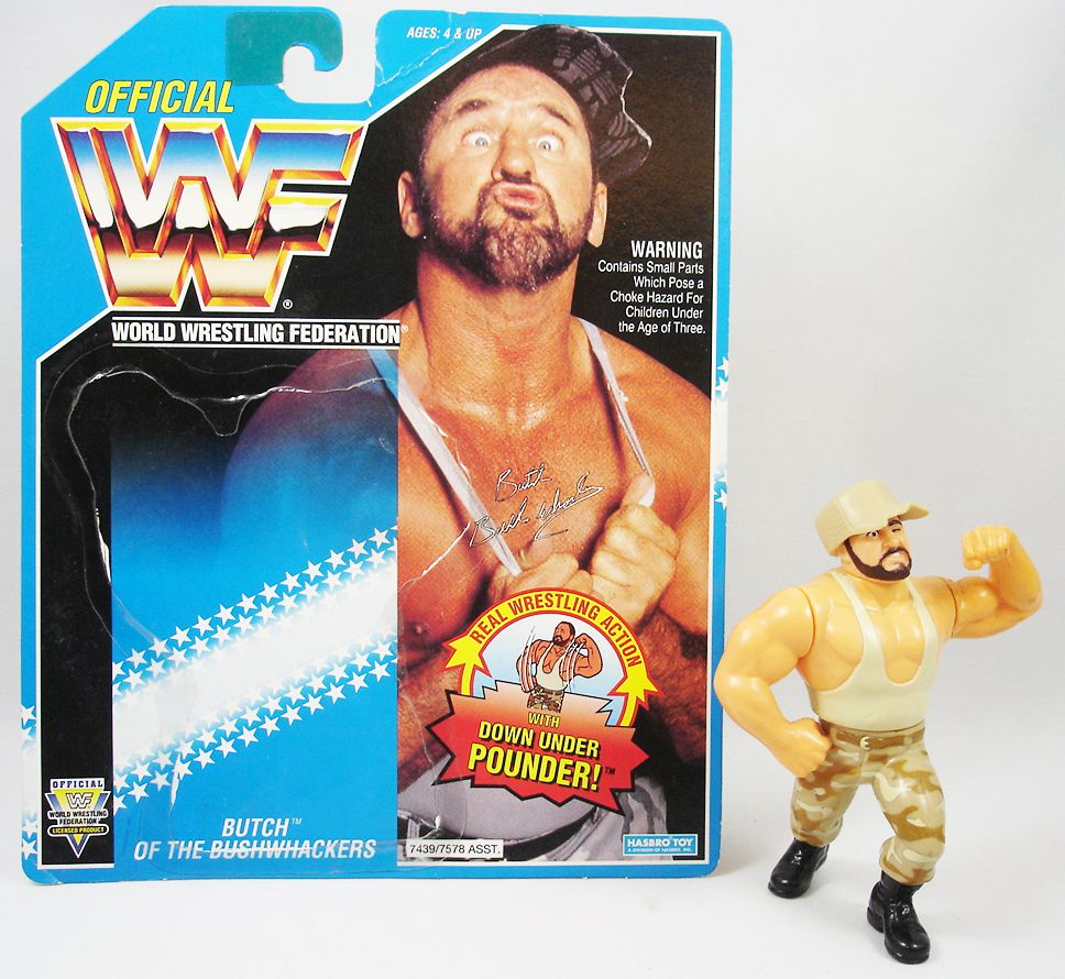 WWF Hasbro - Bushwhackers Butch (loose avec carte USA)