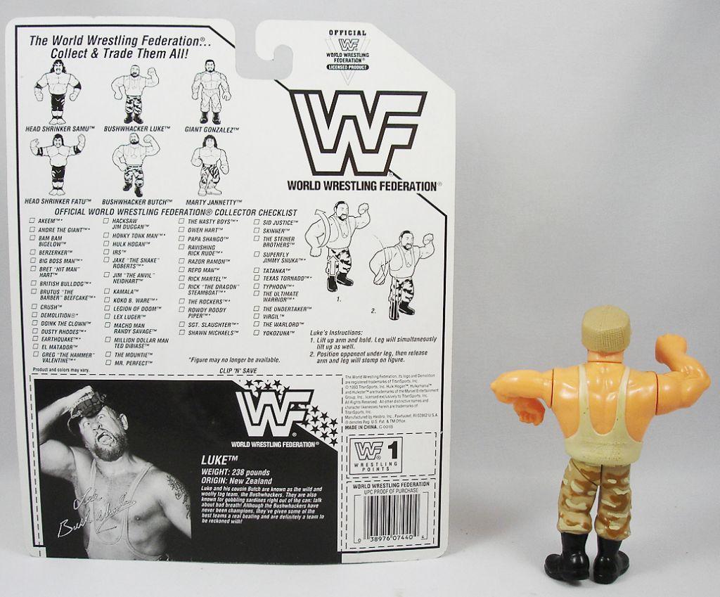 WWF Hasbro - Bushwhackers Luke (loose with USA cardback)