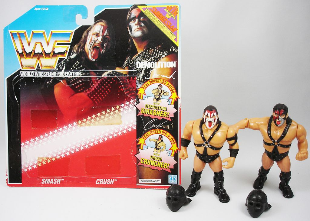 WWF Hasbro - Demolition Smash & Crush (loose with USA cardback)