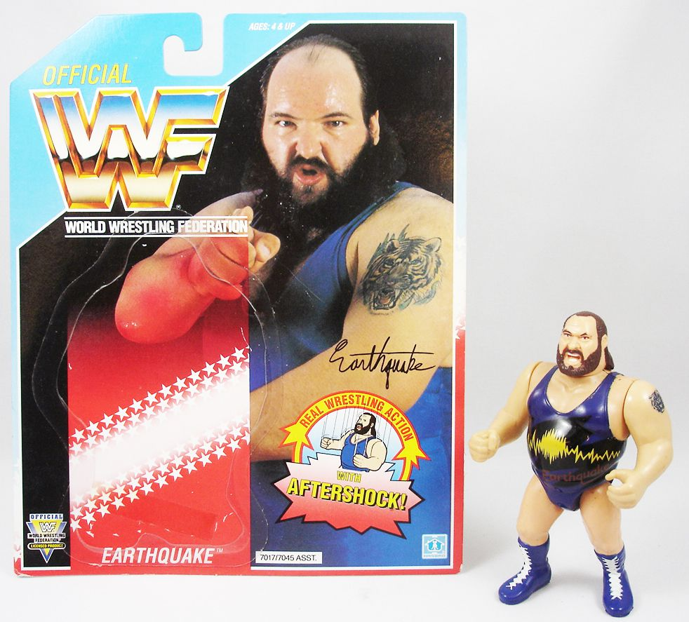 WWF Hasbro - Earthquake (loose avec carte USA)