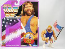 WWF Hasbro - Hacksaw Jim Duggan v.2 (loose avec carte USA)