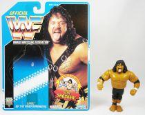 WWF Hasbro - Headshrinkers Samu (loose with USA cardback)